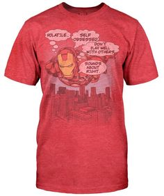 Robert Downey Jr.'s Favorite Iron Man Shirt [T-Shirt] // why don't they make this in women's fit? :(