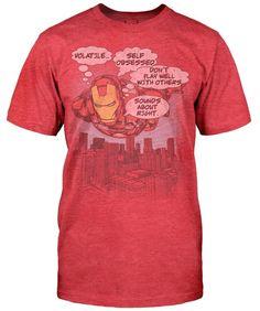 Robert Downey Jr.'s Favorite Iron Man Shirt [T-Shirt]