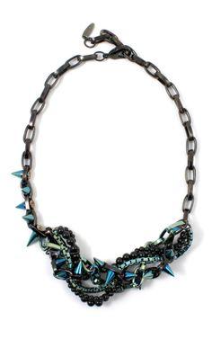 Joomi Lim Dark Romance titanium necklace with pearls-- bad ass!