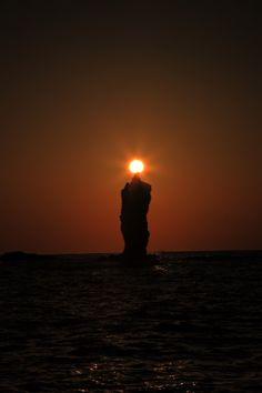 Roosoku Island(Candle Island) , off the coast of Dogo Island, Oki Islands, Shimane, Japan