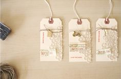 save-the-date baggage labels.  How cute!