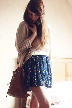 Jumper and summer skirt combo