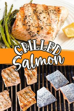 This grilled salmon recipe is the quickest and easiest way to make delicious salmon on the grill. The flavorful filets are ready in just 15 minutes, making it the perfect dinner for a busy weeknight! Healthy Dinner Options, Easy Dinner Recipes, Easy Recipes, Quick Easy Desserts, Quick Easy Meals, Salads To Go, Grilled Salmon Recipes, Whole Roasted Cauliflower, 15 Minute Meals