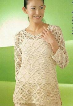 ++++++++++++++++++Crochetemoda:+Túnica+de+Crochet
