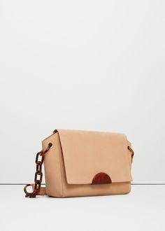 Leather cross body bag - Bags for Women   MANGO USA