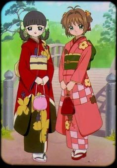 Cardcaptor Sakura [CLAMP] - Sakura Kinomoto x Tomoyo Daidouji - SakuTomo Cardcaptor Sakura, Sakura Card Captor, Syaoran, Anime Kimono, Manga Anime, Anime Art, Clear Card, Magic Cards, I Love Anime