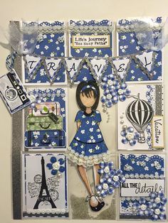Blue Prima Doll Pocket Letter