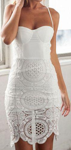 Crochet Lace Bodycon Dress ❤︎