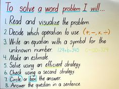 Problem solving anchor chart school pinterest anchor charts math anchor charts can provide a source of visual reference to support student thinking reasoning and problem solving ccuart Gallery