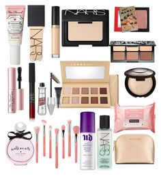 """""""What's in my dream makeup bag"""" by kwindham25 on Polyvore featuring beauty, NARS Cosmetics, MICHAEL Michael Kors, Too Faced Cosmetics, Power of Makeup, Sephora Collection, Becca, LORAC, Bdellium Tools and Benefit"""