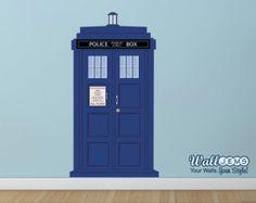 Doctor Who Tardis Call Box Door Topper Vinyl Wall by WallJems