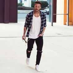 Trending now! STREET WEAR. Becoming more popular in the mainstream and more acceptable in the fashion world. However, trends in streetwear change probably quicker than any other style. Right now the biggest trends are ripped jeans, chelsea boots, and bomber jackets. Follow rickysturn/mens-casual