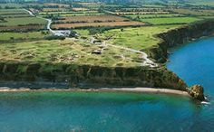 Pointe du Hoc--you can still see the bomb craters from WWII