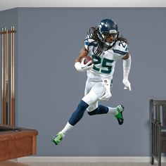 Richard Sherman REAL.BIG. Fathead Wall Decal | Seattle Seahawks Wall Decal