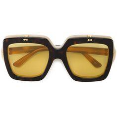 cef0e91708 Gucci Eyewear oversized flip-up sunglasses Flip Sunglasses