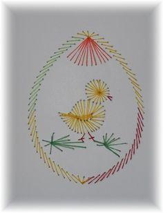 Velikonoční nitěná grafika | Helenin blog