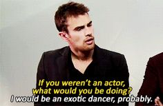 Theo James + Interviews