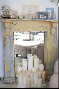 Yes - candles - mirror - I love it - not sure if i will do this in the main floor or when redecorating the bottom floor in the french farmhouse feel.