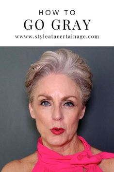 How to Transition from Dyed to Grey Hair. - so you think you want to go gray? today, i share a few tips on how to transition from colored hair to your natural gray. Going Grey Transition, Going Gray, Natural Hair Growth, Natural Hair Styles, Short Hair Styles, Dark Curly Hair, Grey Hair, Natural Hair Conditioner, Hair Care Oil