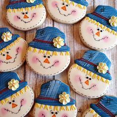 Skeleton cutters made the best scarecrows! Skeleton cutters made the best scarecrows! Fancy Cookies, Iced Cookies, Cut Out Cookies, Cute Cookies, Cupcake Cookies, Cookies Et Biscuits, Sugar Cookies, Cupcakes, Thanksgiving Cookies