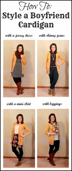 My New Favorite Outfit: How To: Style a Boyfriend Cardigan