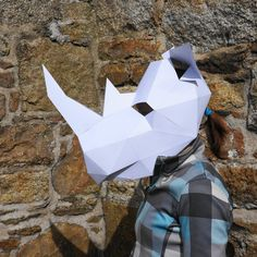 NEED A FANCY DRESS COSTUME? Make your own RHINO MASK from recycled card with these easy to follow instructions.  I have designed this set of