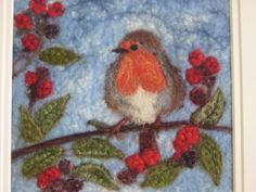 Wet and needlefelted picture - see more work on Facebook page - 'Pallywidden' xxx