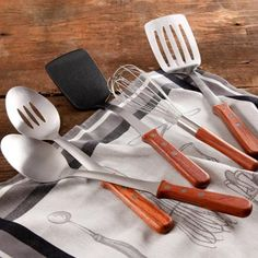 The Pioneer Woman Cowboy Rustic Breakfast Essentials 5-Piece Kitchen Tool Set with Rosewood Handle - Walmart.com