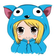 On the website this said elephant chibi. What the heck it's Lucy in a happy onsie.