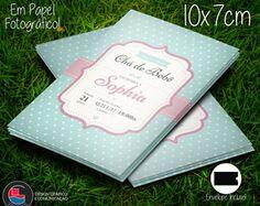 Convite Chá de Fraldas Blue&Pink Cute