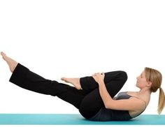 Resisted single leg stretch- 8 Best exercises to burn lower belly fat fast