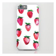 Strawberries iPhone 6s Case ($35) ❤ liked on Polyvore featuring accessories, tech accessories and iphone & ipod cases