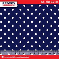 Estampa Pois (Poá) Marinho | Desenho 2120 Variante 02. Disponibilidade de Larguras e Comprimentos sob consulta!