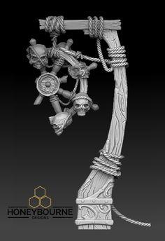ZbrushPirateSculpt; OriginalConceptByVlaskin