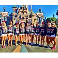 How cute are Arizona Gamma Phi's Disneyland Shirts {made by 224 Apparel & Design)