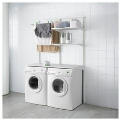 153 laundry design ideas with drying room that you must try -page 15 Small Shelves, Small Storage, Diy Storage, Storage Ideas, Storage Shelves, Organization Ideas, Ikea Algot, Basement Laundry, Laundry Room Organization