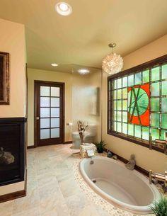 30 Amazing Asian Inspired Bathroom Design Ideas (I love the tub in the floor idea)