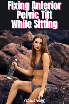 Do you often sit down? With a few tweaks, you can reduce the negative effects on your posture. Learn how to fix anterior pelvic tilt while sitting and more by reading this! Posture Correction Exercises, Posture Stretches, Posture Fix, Better Posture, Bad Posture, Improve Posture, Sitting Posture, Anterior Pelvic Tilt Fix, Lumbar Lordosis