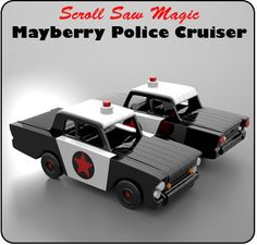 Scroll Saw Magic Mayberry Police Cruiser Wood Toy Plan Set