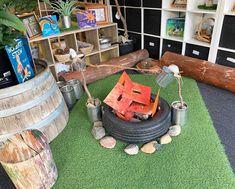 Camping Dramatic Play, Dramatic Play Themes, Dramatic Play Area, Dramatic Play Centers, Eyfs Activities, Nursery Activities, Toddler Play Area, Toddler Fun, Camping Books