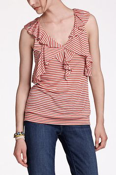 Capeside Top #anthropologie  Love it. Reminds me of a sailor look
