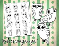 embroidery patterns - owls