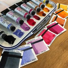 I'm back in the STUDIO. As I promised here's the 8 new paint colors from Daniel Smith. I'm eager to put these new colors to work and test them out. #danielsmithwatercolors #watercolor #paints