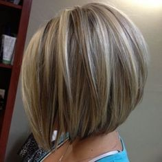 Concave Bob Back View Of Stacked