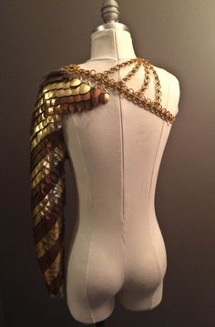 cosplay etsy fantasy costume armor chain for sale harness scales chainmail armour Maille chainmaille larp dragonscale chain mail Scale Mail ...