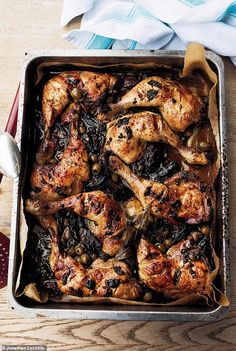 Yotam Ottolenghi's Chicken Marbella with olives, dates, and capers
