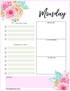Brilliant Free 2018 Daily Planners You\'ll Fall In Love With | Free ...