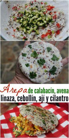 Arepas de verduras Lunch Snacks, Lunch Recipes, Healthy Snacks, Vegetarian Recipes, Healthy Eating, Healthy Recipes, Good Morning Breakfast, Savory Breakfast, Vegan Pastries