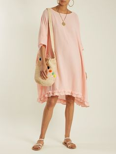 Click here to buy Rhode Resort Camille open-back cotton kaftan at MATCHESFASHION.COM