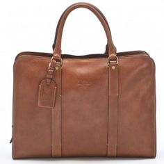 Boldrini Two Handle Briefcase - Briefcases - Women | Hunt Leather